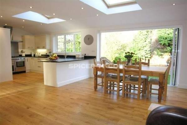 Beautiful Kitchen Diner Extension Roof Windows Add