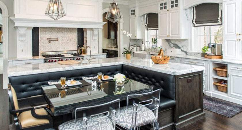 Beautiful Kitchen Islands Bench Seating Designing Idea