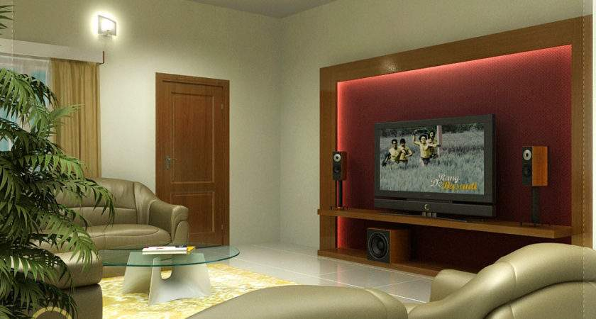 Beautiful Living Room Rendering Kerala House Design