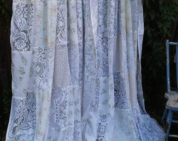 Beautiful One Kind Shabby Chic Window Curtains Vintage