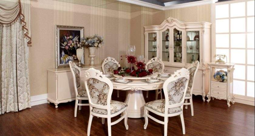 Beautiful Round Dining Table Sets Romantic Room