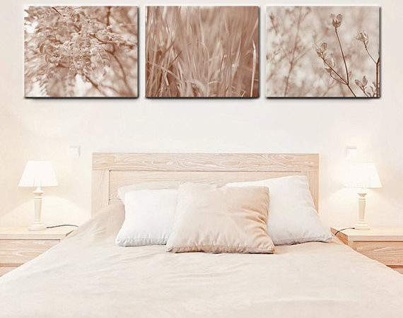 Bedroom Art Canvas Neutral Light Brown Wall