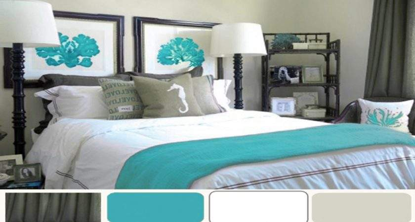 Bedroom Bedding Decor Coral Turquoise
