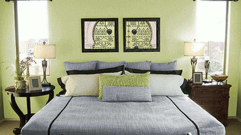 Bedroom Colors Wall Green