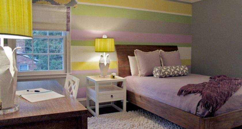 Bedroom Comely Brown Purple Yellow Living Room Interior