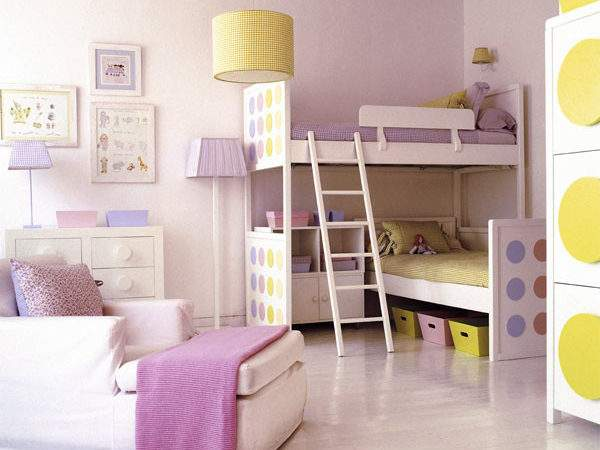 Bedroom Designs Blue Bunk Beds Girls Room Sleek Style