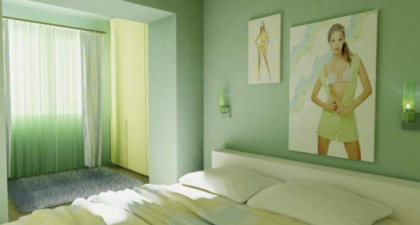 Bedroom Mint Green Colored Design Ideas