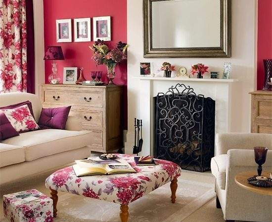 Berry Accents Living Room Housetohome