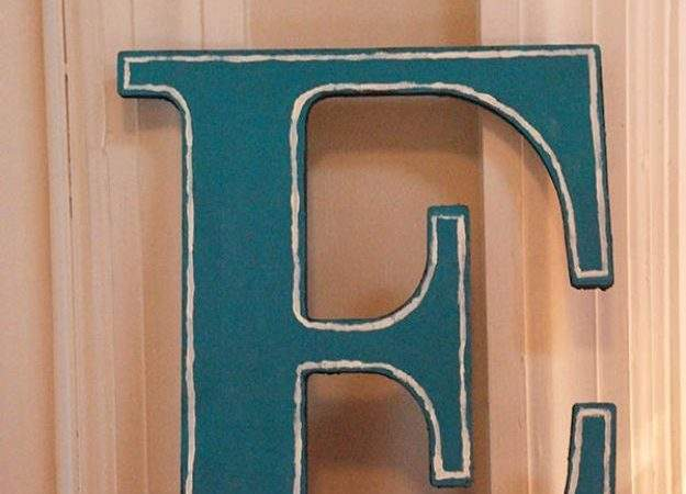 Best Decorated Wooden Letters Ideas Pinterest