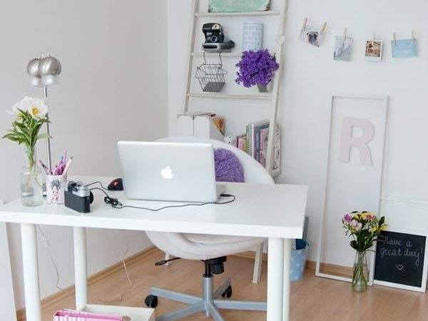Best Glam Girly Feminine Workspace Design Ideas