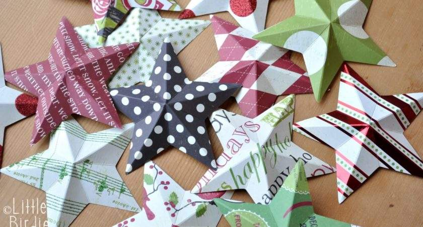 Best Photos Paper Star Ornaments