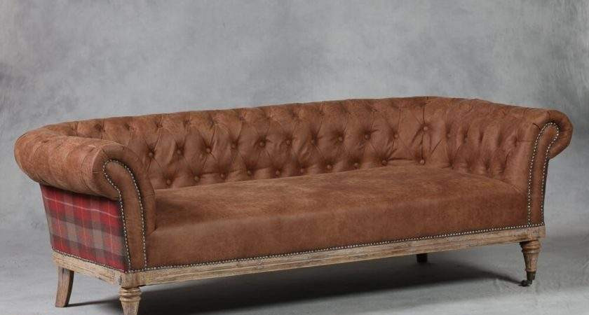 Best Quality Tartan Chesterfield Sofa Smithers Stamford