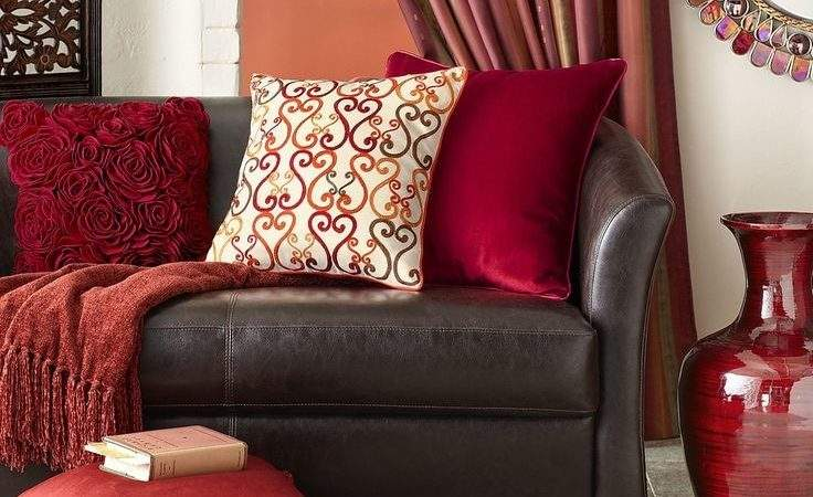Best Red Brown Living Room Pinterest