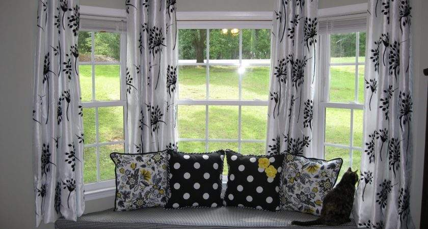 Between Rafters Yourself Bay Window Curtain Rod