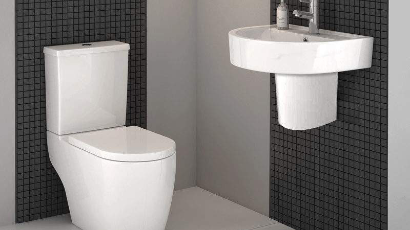 Bianco Modern Cloakroom Suite Available Victorian