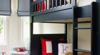 Black Bunk Beds Traditional Boy Room Palmer Weiss