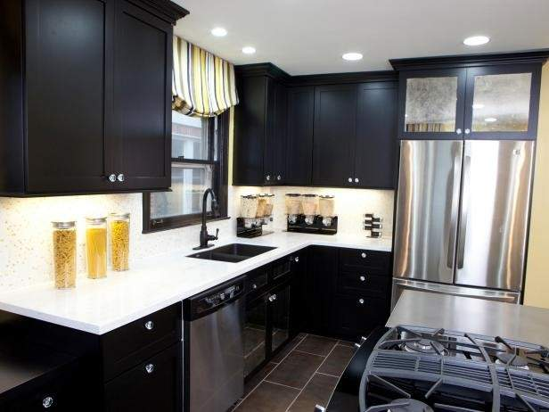 Black Kitchen Cabinets Options Tips Ideas Hgtv