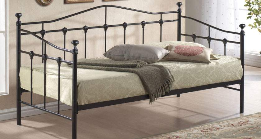 Black Metal Daybed Hamden Trundle