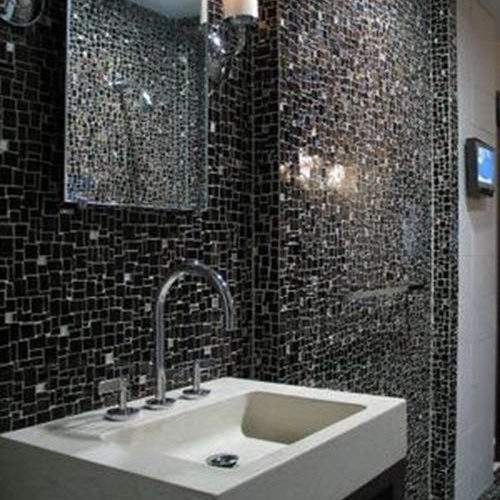 Black Sparkle Bathroom Tiles Ideas