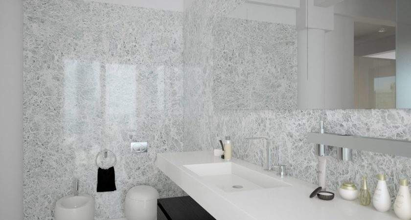 Black White Contemporary Bathroom Design Interior