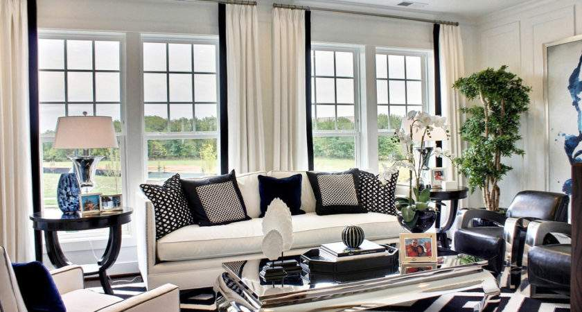 Black White Living Room Designs