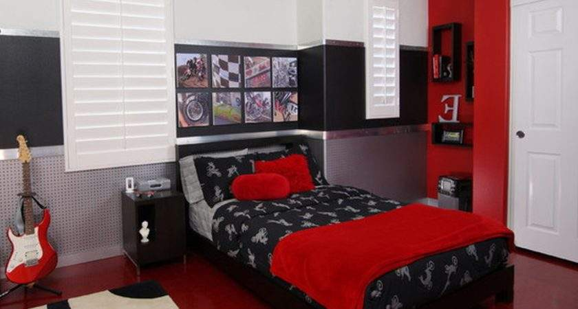 Black White Red Bedroom Decorating Ideas
