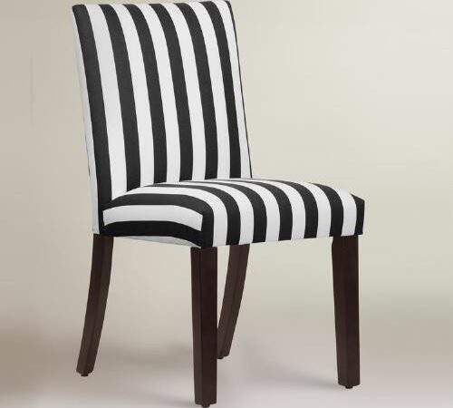 Black White Stripe Dining Chair