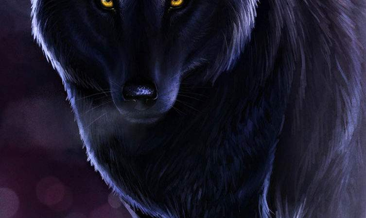 Black Wolf Canvas Multiple Sizes Wall Art Poster Print