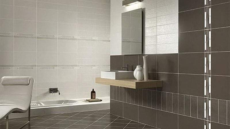 Bloombety Bathroom Wall Brown Tile Examples