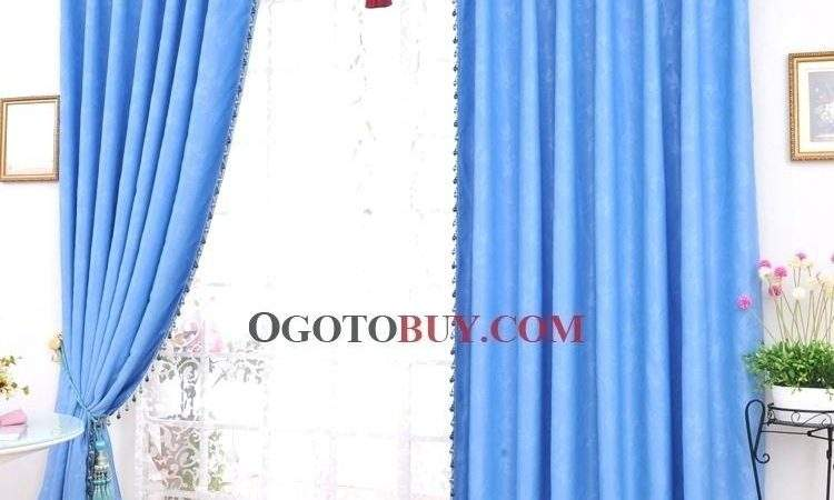 Blue Blackout Curtains Teawing