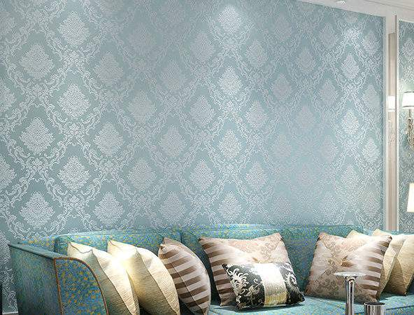 Blue Feature Wall Promotion Shopping