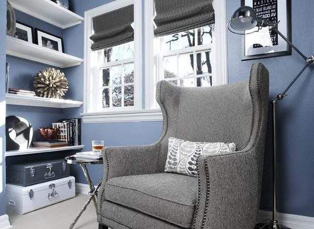 Blue Room Gray Armchair Hgtv