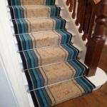 Blue Stair Carpet Runner Striped Runners