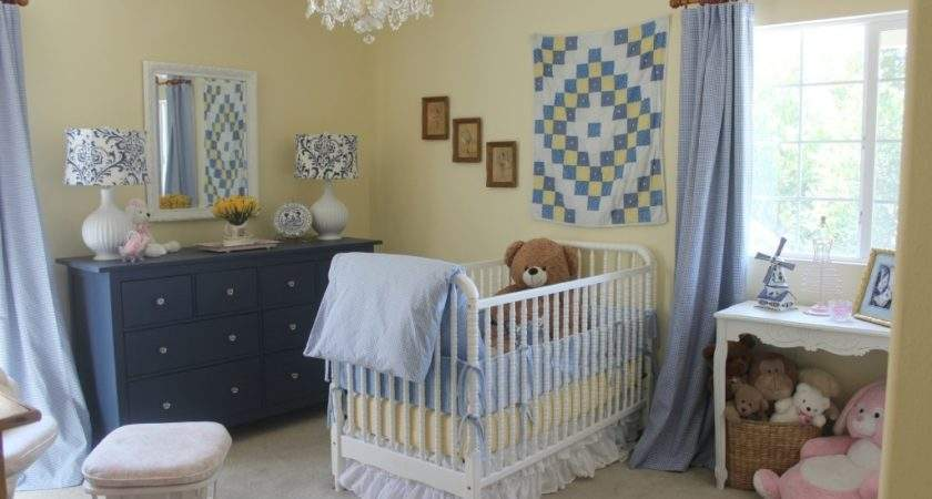 Blue White Yellow Girls Nursery Project
