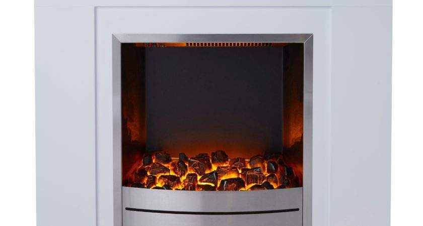 Blyss Beccles White Led Electric Fire Suite Departments