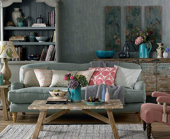 Bohemian Feel Living Room Decorating Ideal Home