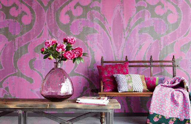Bohemian Pink Eclectic Houston Fabric