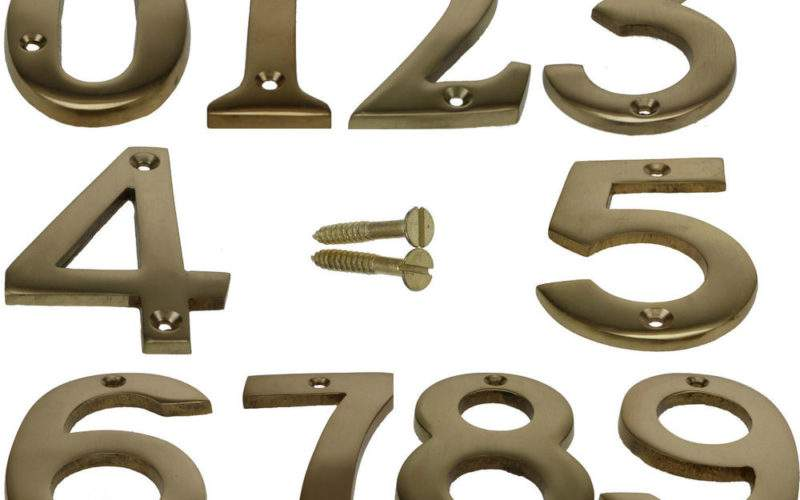 Brass House Front Door Numbers Plaque Wall Plates Signs Ebay