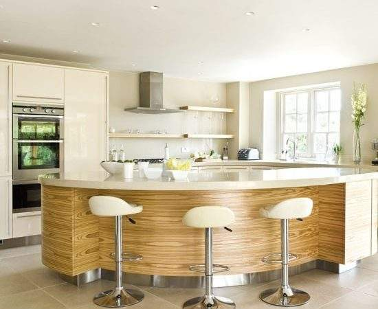 Breakfast Bar Wooden Large Modern Home Exteriors