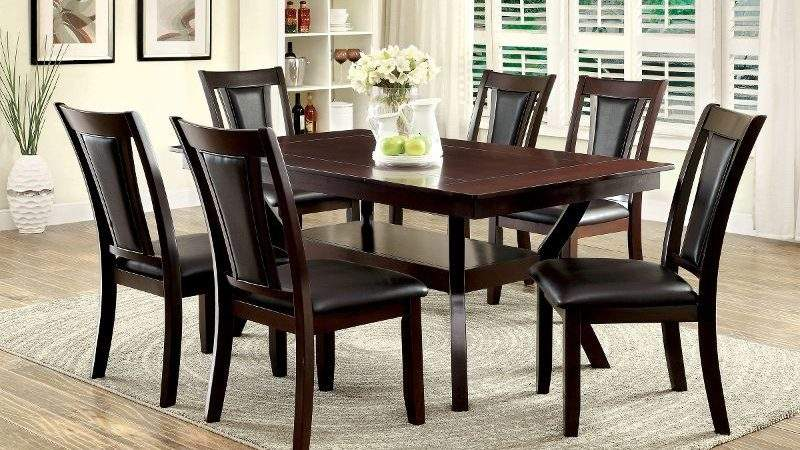 Brent Dark Cherry Piece Dining Set