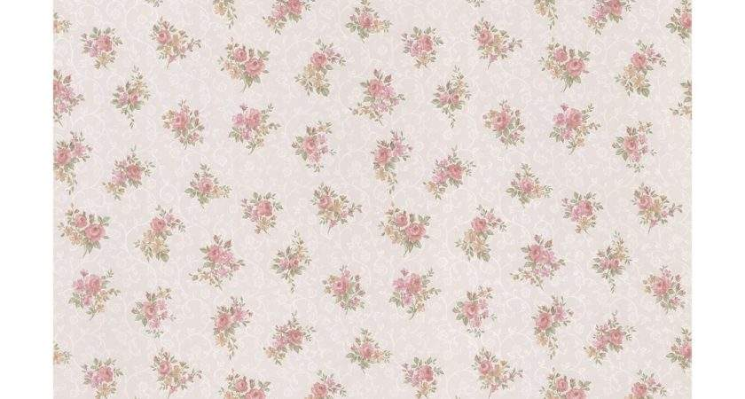 Brewster Home Fashions Pink Small Floral Print