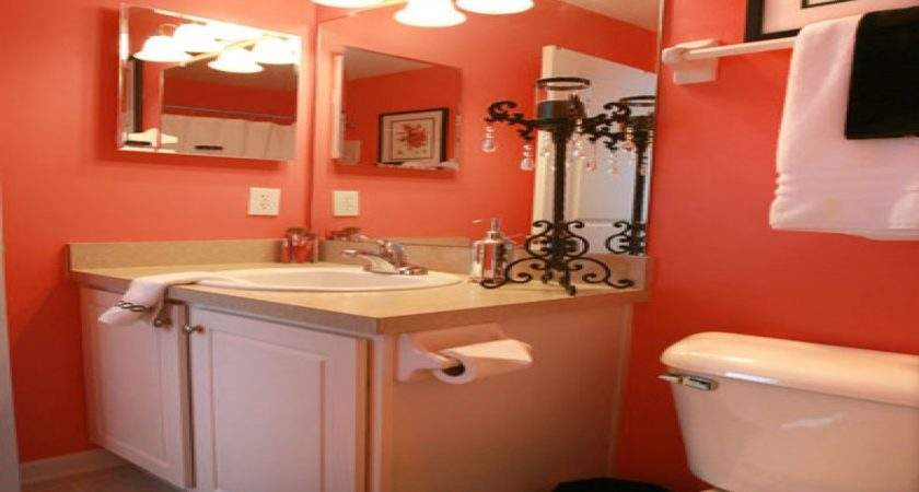 Bright Colored Bathrooms Coral Color Bathroom Decor