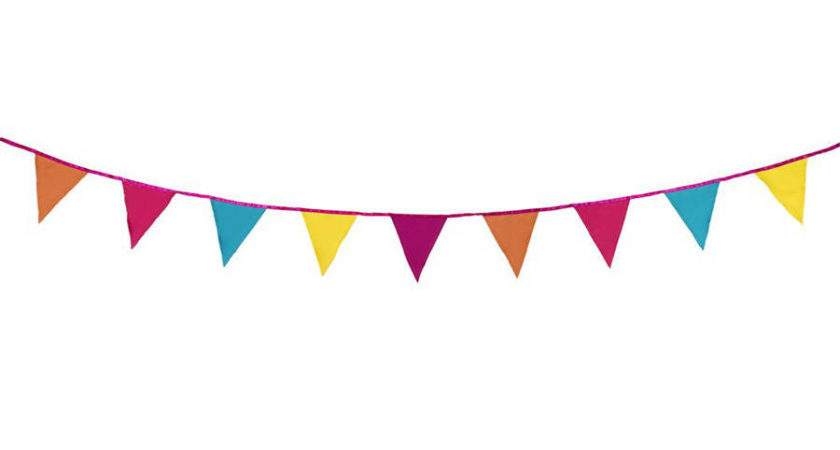 Bright Fabric Bunting Postbox Party