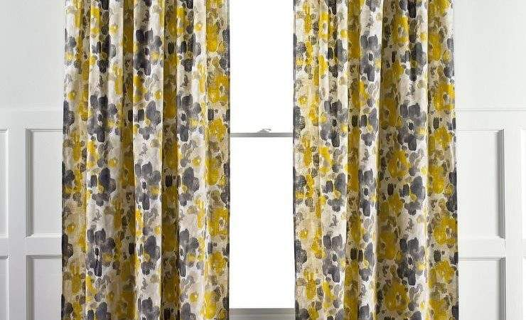 Bright Yellow Curtains Panel Curtain Menzilperde