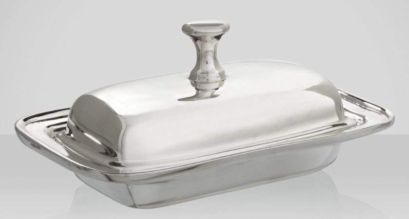 Brissi Butter Dish Silver Plated Shopping Women