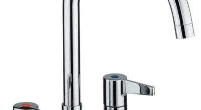 Bristan Design Utility Lever Kitchen Deck Sink Mixer Tap