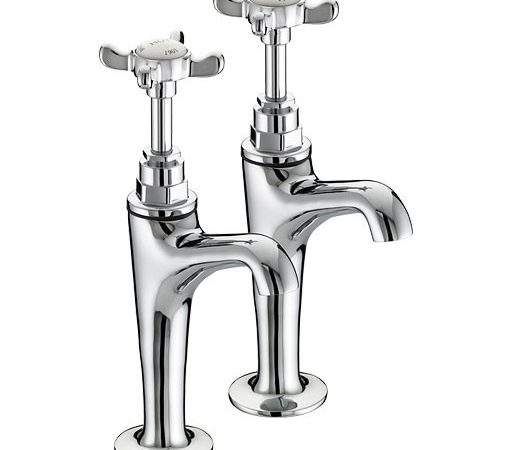 Bristan High Neck Pillar Taps