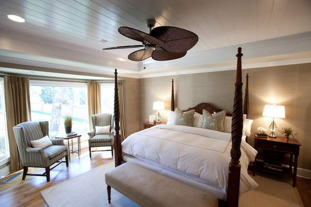 British Colonial Master Suite Traditional Bedroom