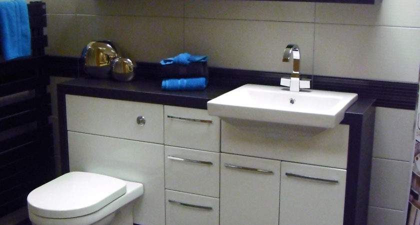 Brown Gloss Bathroom Furniture Bathrooms Shades Fitted
