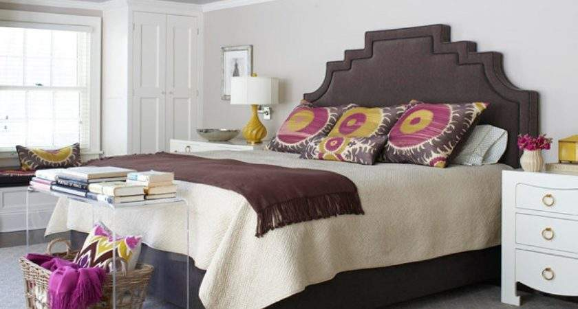 Brown Purple Bedroom Designs